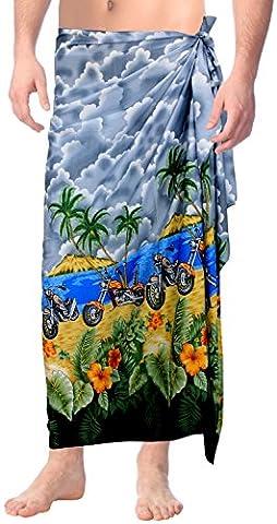 La Leela Floral Beachwear Swimwear Likre Wrap Vintage Sleepwear Pareo