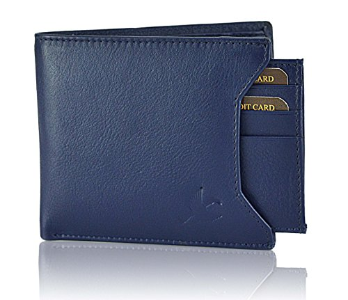 Hornbull Men's Navy Leather Wallet