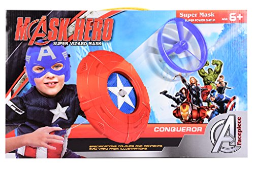 Planet of Toys Hero Set Shield with Disclauncher Mask and 2 Discs