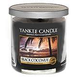 Yankee Candle 1254015E Black Coconut Duftkerze, Glas, schwarz, 8.5 x 8.5 x 8.7 cm