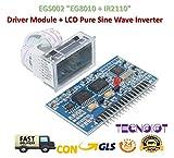 TECNOIOT EGS002 EG8010 + IR2110 Driver Module + LCD Pure Sine Wave Inverter Driver