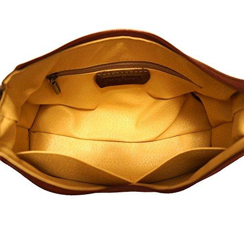 Schulter- und Handtasche mit einzigen Handgriff 6504 Braun