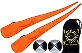 Flames N Games Pro Socken-Poi Set (Orange) Sock Poi (inkl. 2x Beanbags Bälle) + Reisetasche. Swinging Poi und Spinning Pois! Pois für Anfänger und Profis.