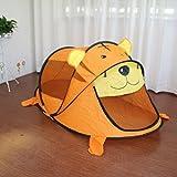 Gazechimp Tragbare Kinderzelt Nette Orange Tiger für Kinder Indoor Outdoor Pop-up-Spielzeug 182 x 96 x 76cm