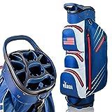 VARDI Lightweight Golf Cart Bag, 14 Way Organizer Full Length Divider Top, 8