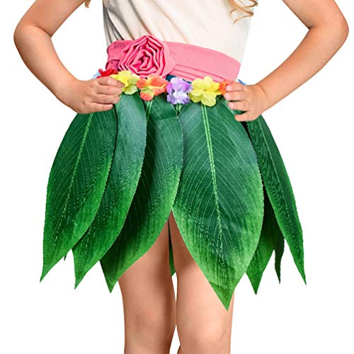 YAANCUN Blatt Hula Rock Und Hawaiian Party Leaf Hula Rock Hawaii Hula Grass Dance Röcke Fancy Kleid Kostüm (Hula Mädchen Tanz Kostüm)