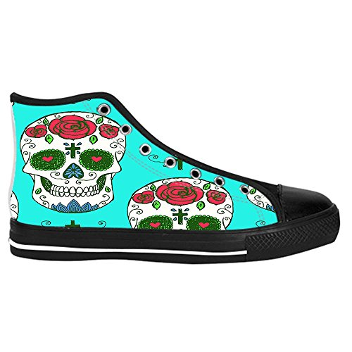 Dalliy Red Rose And Skull Men's Canvas shoes Schuhe Lace-up High-top Sneakers Segeltuchschuhe Leinwand-Schuh-Turnschuhe C
