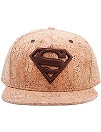 Superman SB1206SPM - Gorra de corcho con el logotipo, 50% de madera, color