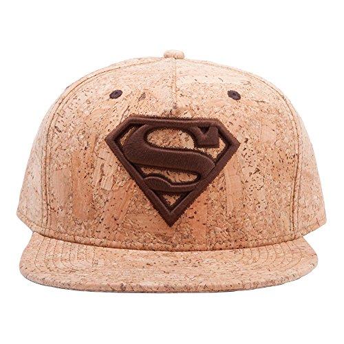 Superman Snap Back Cap Cork Effect