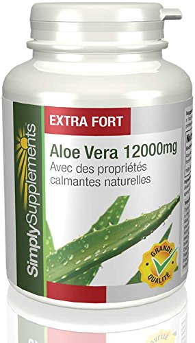 Aloe Vera 12,000mg | Aide à favoriser la digestion | 180 Comprimés | Simply Supplements