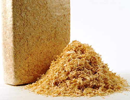 Jumbogras Kleintiereinstreu aus Holzfaser 10 x 1 kg, saugfähige Holzspäne-Streu, günstige Alternative zu Stroh & Pellets für sauberen Käfig/Stall (10 x 1 kg Packung) 10 X Stroh