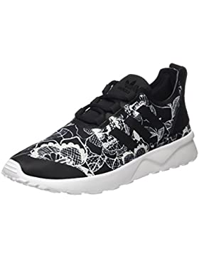 adidas Damen Zx Flux Adv Verve Trainer Low, Schwarz