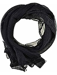 Women's / Ladies' Fashion Glitter Scarf With Six Colours (Black)