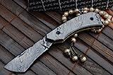 Perkin Knives Koobi Damast-Taschenmesser mit Damastklinge, maßgefertigt