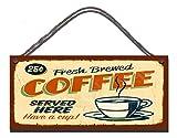 Gigglewick Gifts Placa Pared humorístico (Madera Retro Café préparé Gastos