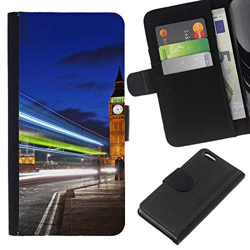 Graphic4You London Postkarte Ansichtskarte Design Brieftasche Leder Hülle Case Schutzhülle für Apple iPhone 5C Design #1