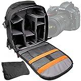 DURAGADGET Sac à dos noir modulable pour appareil photo Nikon D4s, D810, et D750, Pentax 645 Z et Pentax K-S1, K-70 et accessoires