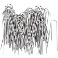 100 Grapas de sujeción GALVANIZADAS 150 mm largo 25 mm ancho de alambre de acero 3,0 mm