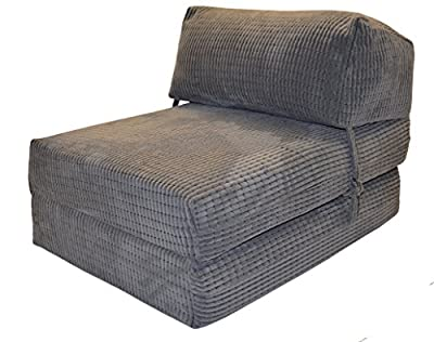 JAZZ CHAIRBED - CHARCOAL DA VINCI Deluxe Single Chair Bed futon - cheap UK sofabed store.