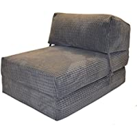 Gilda JAZZ CHAIRBED - DA VINCI Deluxe Single Chair z Bed futon (Charcoal)