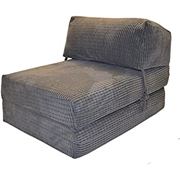 JAZZ CHAIRBED - DA VINCI Deluxe Single Chair z Bed futon (Charcoal)  sc 1 st  Amazon UK & JAZZ CHAIRBED - DA VINCI Deluxe Single Chair z Bed futon (Charcoal ...