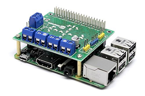 Price comparison product image SB New DC and Stepper Motorshield for Raspberry Pi 3 and Raspberry Pi Zero this expansion board can control up to 4 DC motors or 2 Stepper Motor, 2 IR sensors and a single ultrasonic sensor.