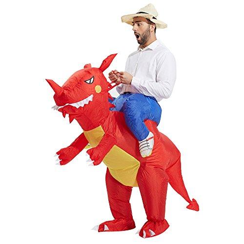 Imagen de heyma adulto dinosaurio disfraz disfraz halloween traje
