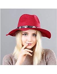 MXL Señoras de las mujeres Ola británica A lo largo de Fedora Sombrero  Cinturón de lana Sombrero de copa Marea Femenina Sombrero de fieltro… 1ac01249b76