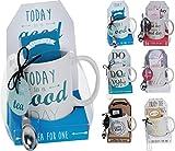 Tazza da tè, caffè o cioccolata calda set in 6diverse formulazione design, Its a Good Day Coffee Set