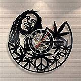 Orologio Da Parete A Forma Di Orologio Da Parete In Vinile Con Orologio Al Quarzo Di Bob Marley
