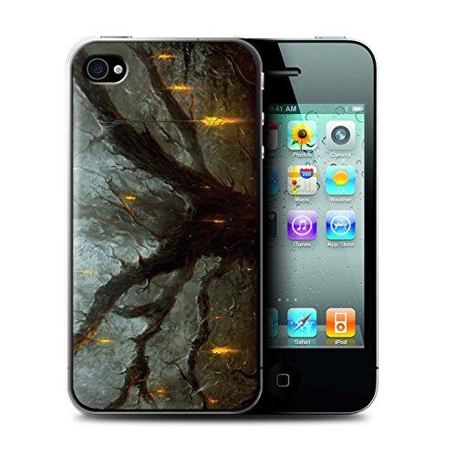Offiziell Chris Cold Hülle / Case für Apple iPhone 4/4S / Tränen der Eva Muster / Gefallene Erde Kollektion Baum des Wissens