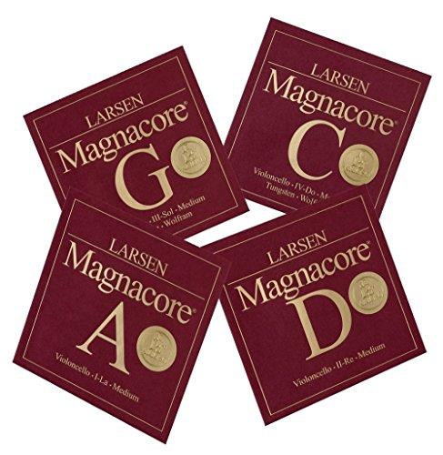 Larsen Saiten für Cello Magnacore Satz (A/D/C/G Magnacore); Strong