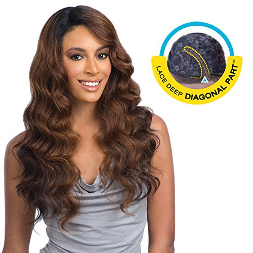 BRAZILIAN NATURAL LOOSE(4 Med. Brown) - FREETRESS EQUAL DEEP DIAGONAL PART LACE FRONT WIG by FREETRESS EQUAL