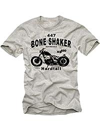 Biker T-Shirt für Herren BOBBER XS 650 Motorrad grau Größe S-XXXL