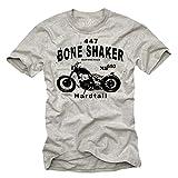 Biker T-Shirt für Herren BOBBER XS 650 Motorrad grau Größe XL