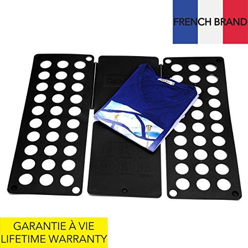 Takit fb5 - tavola piega indumenti - tavola piega camicie - piega abiti pantaloni asciugamani t-shirt/tavola piega indumenti per riordinare la lavanderia (nero)