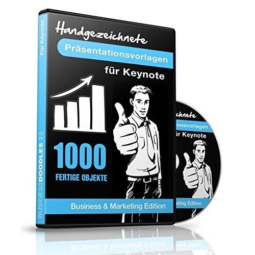 1000 Handgezeichnete Präsentationsvorlagen für Apple Keynote -: Business & Marketing Edition - Für Mac