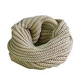 Imixcity®Les écharpes tricotées pour hommes et femmes automne/hiver Echarpe snood chaud
