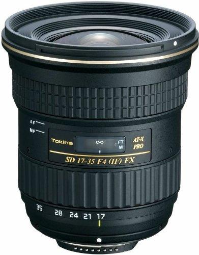Tokina AT-X 17-35mm/f4.0 Pro FX Weitwinkelzoom-Objektiv (82 mm Filtergewinde) für Canon Objektivbajonett