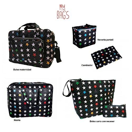 Preisvergleich Produktbild My Bag 's Reihe von Handtaschen Sterne schwarz
