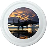 """Aircraft Jet Fighter At Sunset Air Force Novelty 9"""" Flying Disc"""