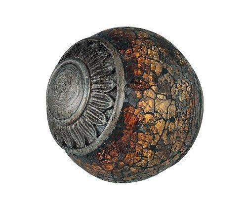 Dunkle Bronze Air (Lite Source c41027NARCISCO Kugel mit Mosaik Glas Accent, Bronze dunkel und Zinn-Finish von Lite Source)
