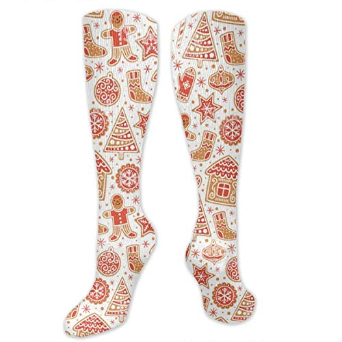 HOJJP Socken Gingerbread Man Casual Colorful Fun Knee High Athletic Socken -