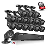 ANNKE H.264+ 16CH TVI 1080N 4 in 1 Surveillance Camera System with 2TB