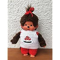 Kleidung für Monchichi Gr. 20 cm Shirt und Hose Fliegenpilz