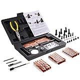 Kit Réparation Pneu 93pcs, TECCPO Professional Kit de Reparation avec Mèches pour Pneu, Automobile...