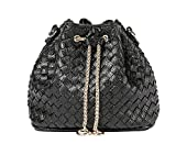 JUND Neu Gehäkelt Elegant Mini Beutel Mode Einfarbig Kette Umhängetasche Lässig Trendy Messenger Bag