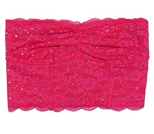 Victoria's Secret Bandeau-BH mit Spitze, Pink - Orange - Medium -