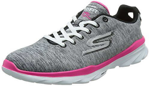 Skechers Go Fit TR Stellar Women's Trainers Sneaker Fitness GOGA Mat Grey, Pointure:EUR 38
