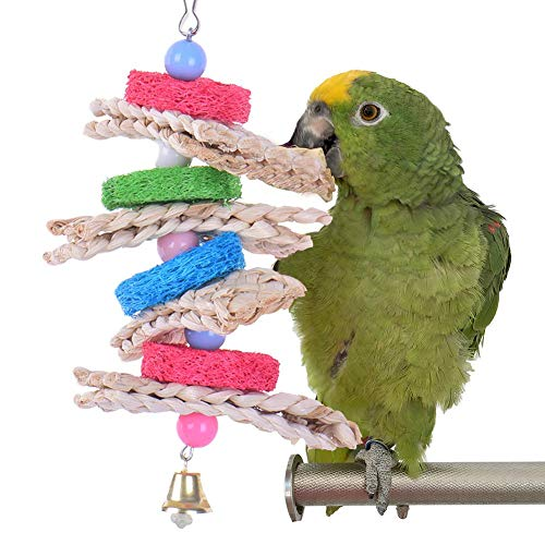 Wood.L Bird Parrot Toys per pappagalli e Uccelli Piccoli e Medi